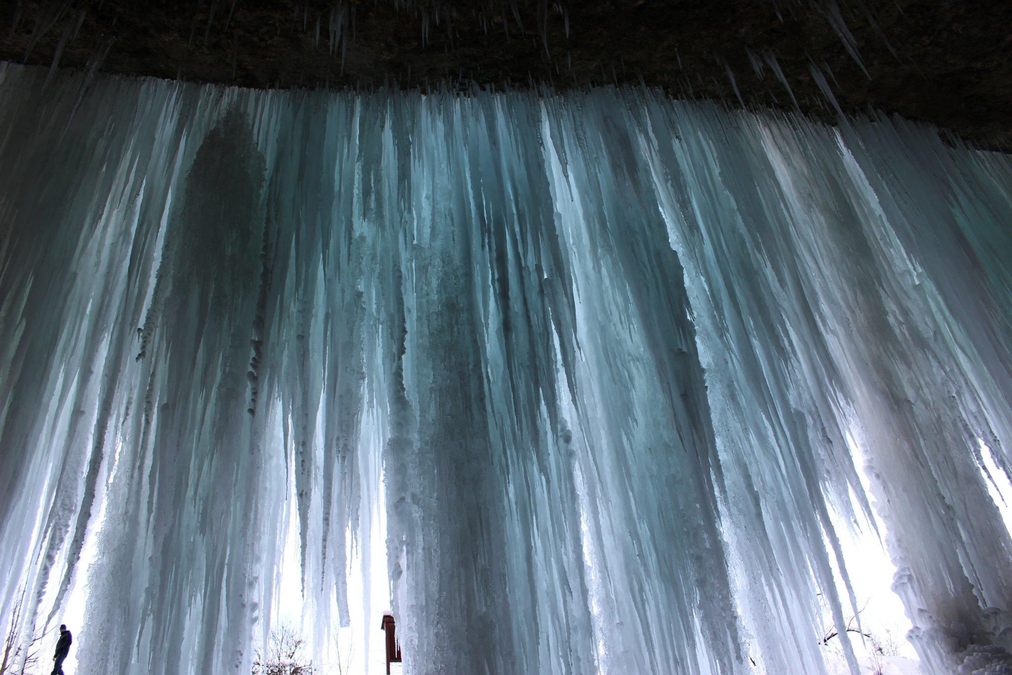 Šikľavá skala rock and frozen waterfall, Košice region, Slovakia 2