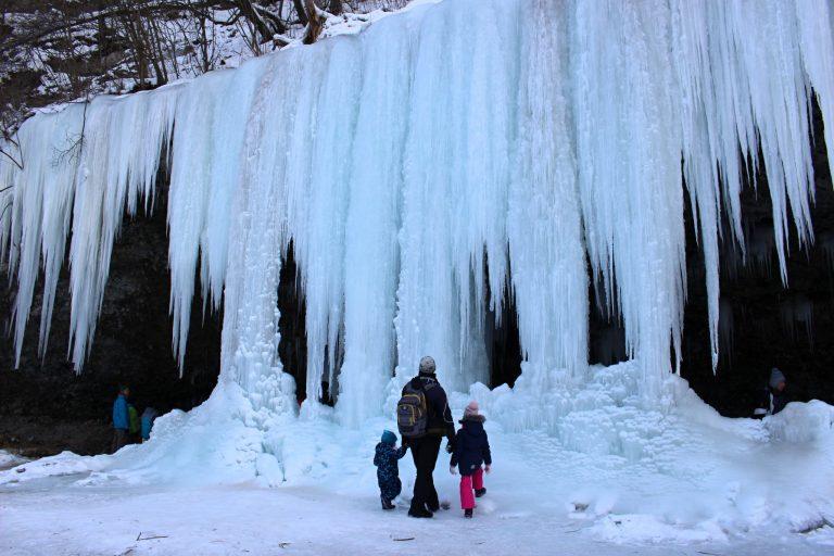 Šikľavá skala rock and frozen waterfall, Košice region, Slovakia 3