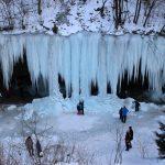 Šikľavá skala rock and frozen waterfall, Košice region, Slovakia 4