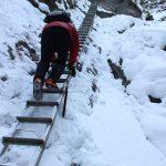 Suchá Belá gorge, winter hiking trip, Košice region, Slovakia - 19