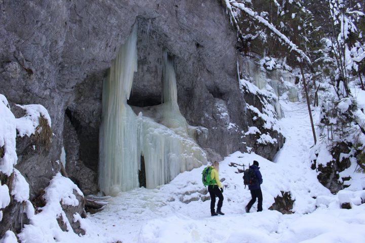 Suchá Belá gorge, winter hiking trip, Košice region, Slovakia - 20