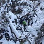 Suchá Belá gorge, winter hiking trip, Košice region, Slovakia - 21