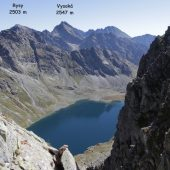 A view from Koprovsky stit, High Tatras, Slovakia