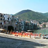 Beach in the town center, Cefalù, Italy