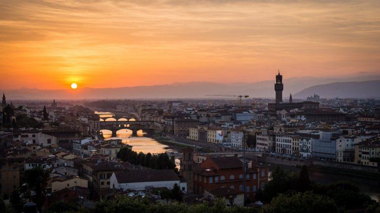 Florence sunset, Tuscany, Italy
