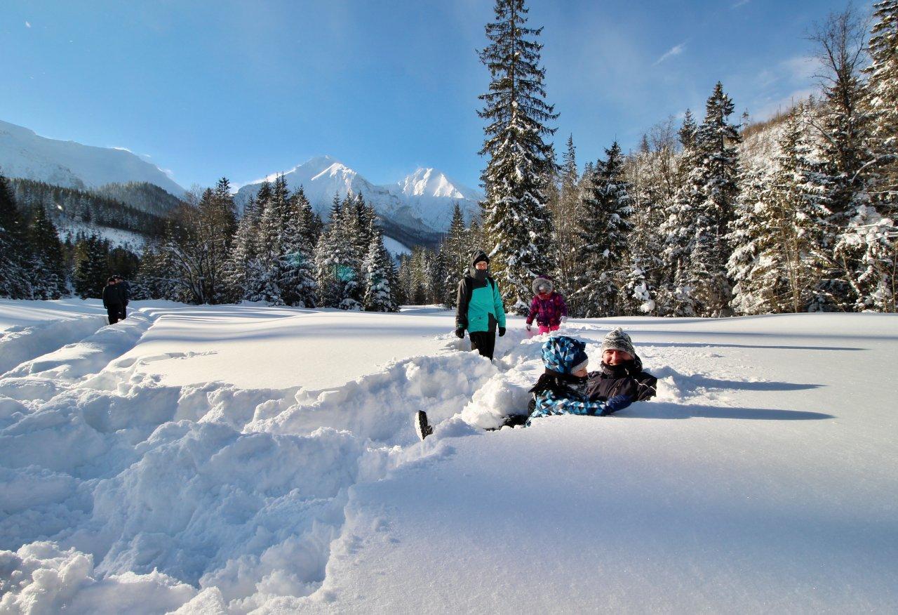 Snow paradise in Monkova dolina valley, Zdiar, Slovakia