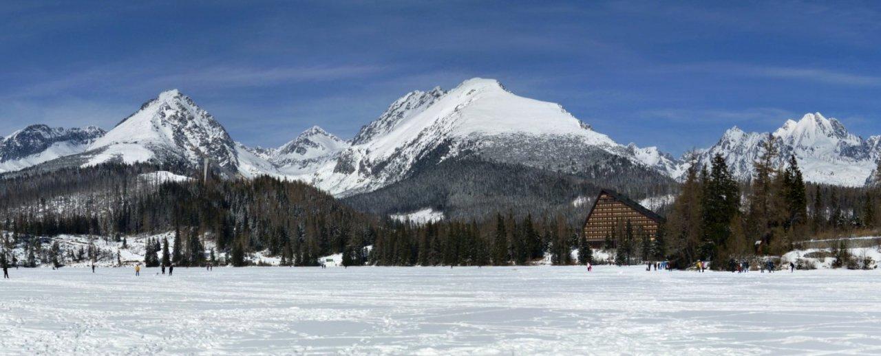 Štrbské pleso in winter, Tatra Mountains, Slovakia
