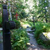 Symbolic cemetery near Popradske pleso, Tatra Mountains, Slovakia