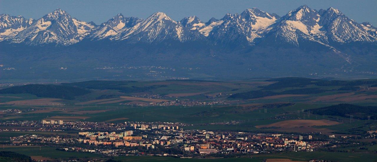 Tatra Mountains and Spišská Nová Ves, Slovakia