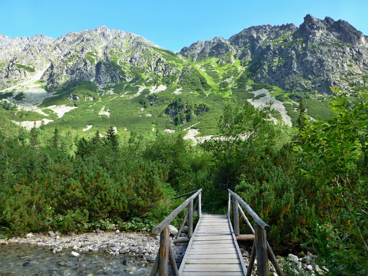 Way to Ostrva, Popradske Pleso, Tatra Mountains, Slovakia