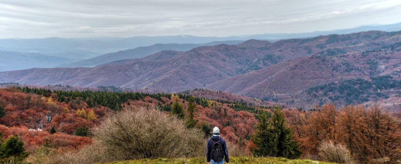 A view from Mincol, Cergov mountain range, Slovakia