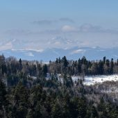 A view of High Tatras from Cergov mountain range, Eastern Slovakia