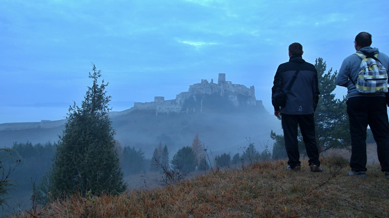 A view of Spis castle from the way to Rocky town Drevenik, Nature reserve, Best places to visit in Slovakia