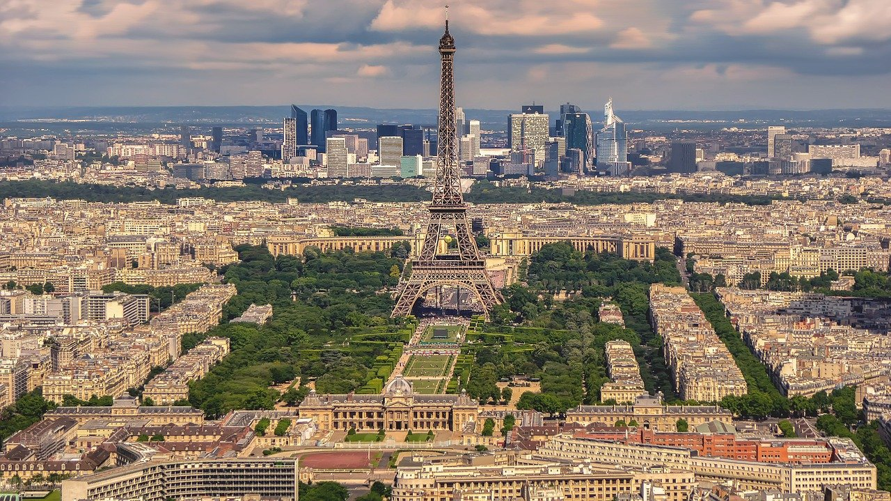Eiffel tower, Paris, Cities in France