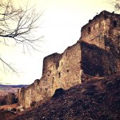 Kapušany castle ruins, Prešov region, Slovakia