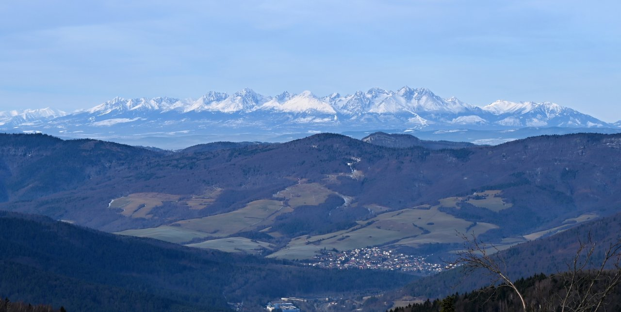 A view of the High Tatras from Kojsovska hola, Kosice region, Slovakia