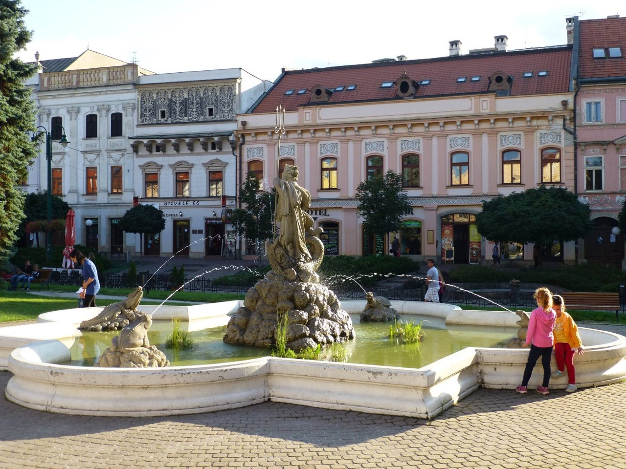 Neptune fountain in Prešov, Hlavná street, Best places to visit in Slovakia