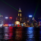 Victoria Harbor & Symphony of Lights, Hong Kong