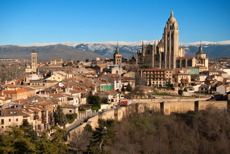 View of Segovia (Spain) as seen from the Alcázar, Cities in Spain