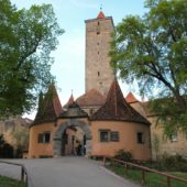 Castle Gardens (Burggarten), Rothenburg ob der Tauber, Germany
