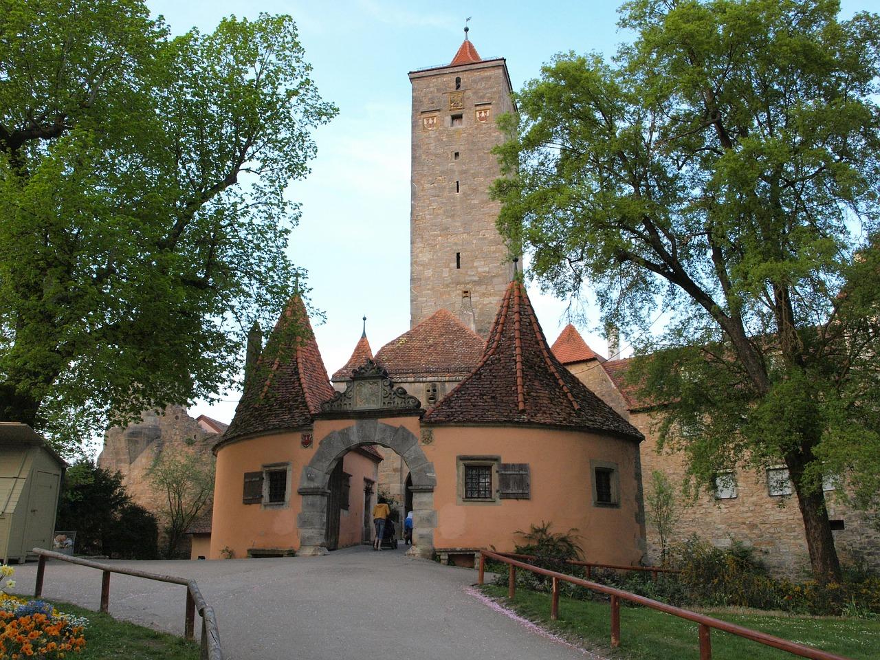 Castle Gardens (Burggarten), Rothenburg ob der Tauber, Germany