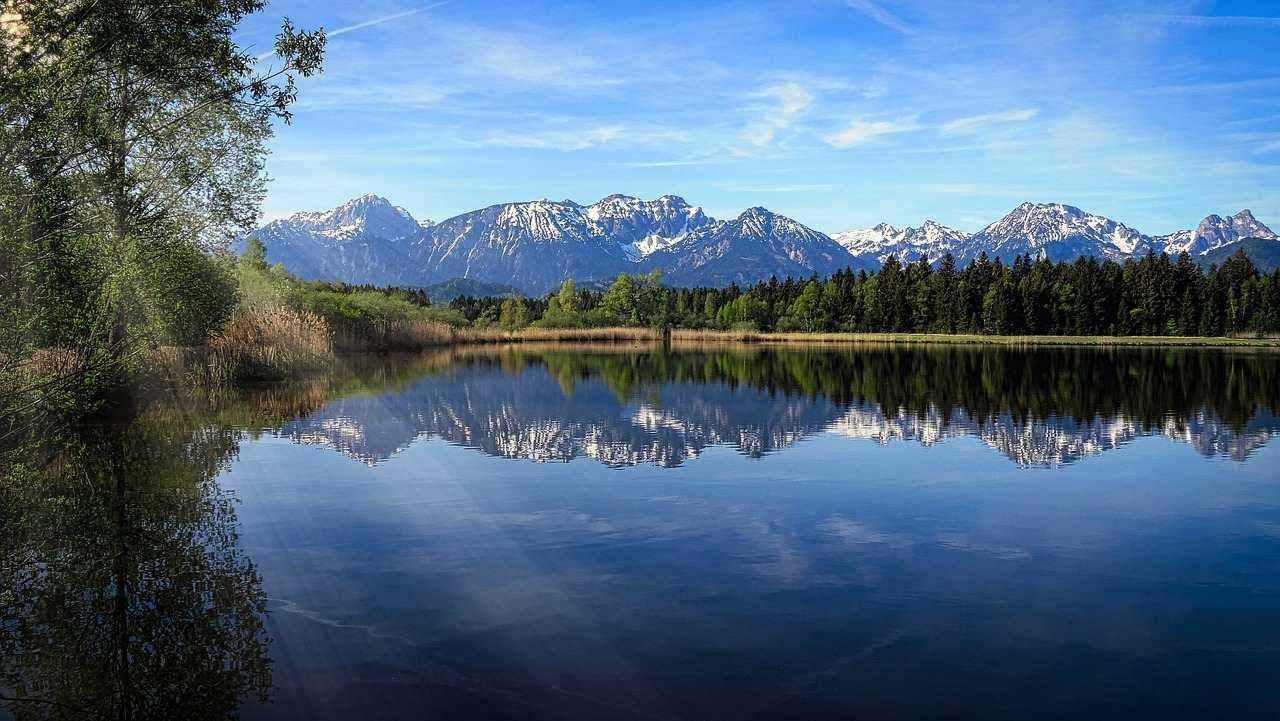 Hopfensee lake, Füssen, Germany