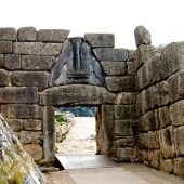 Lion Gate at Mycenae, Greece Travel
