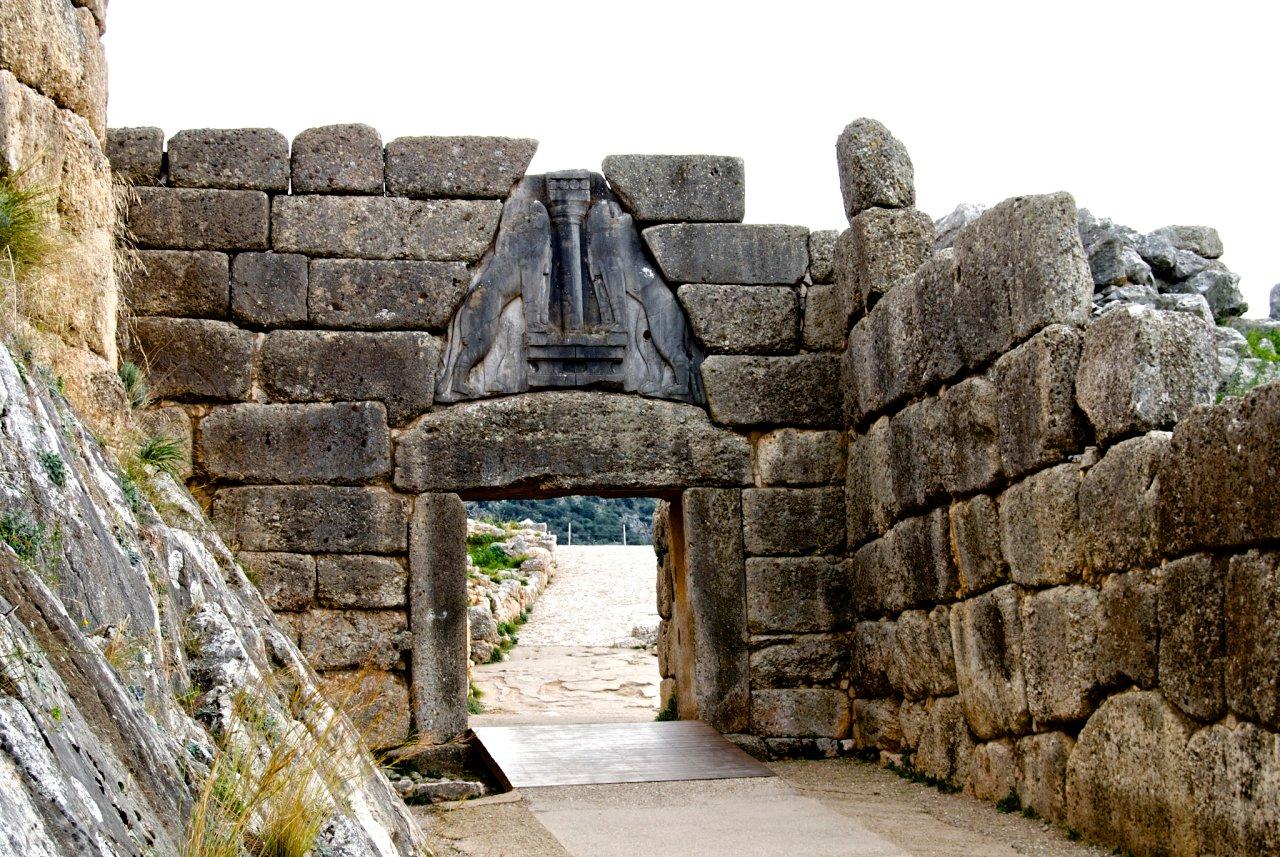 Lion Gate at Mycenae, Greece Travel