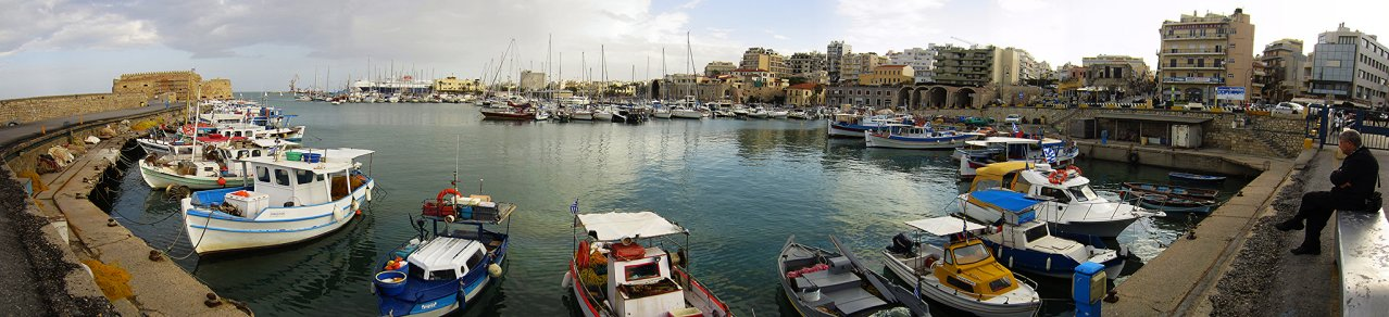 Old Harbor in Heraklion, Greece Travel