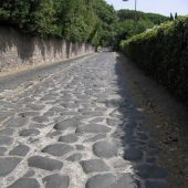 Remains of Via Appia, near Rome, Italy