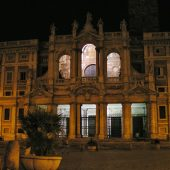 Santa Maria Maggiore in the night, Rome Attractions, Italy