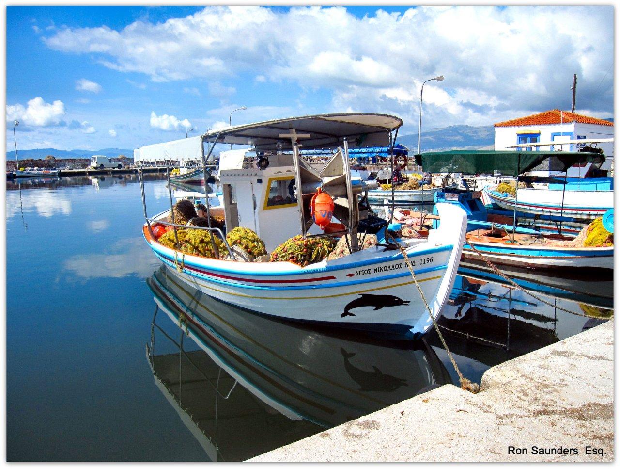 Skala Kalloni Harbour, Lesbos, Greece Travel