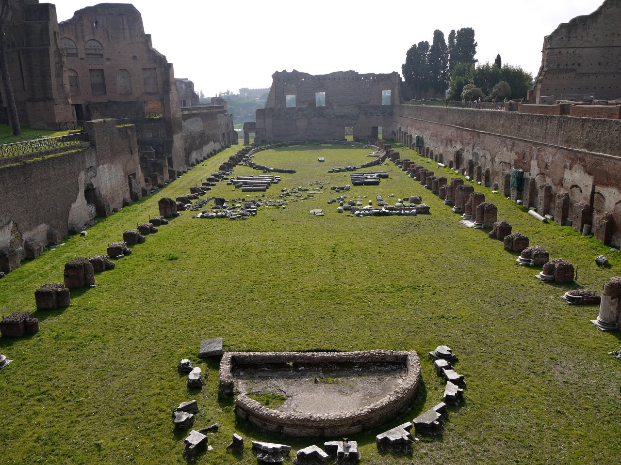 Stadium on the Palatine Hill, Rome Attractions, Italy
