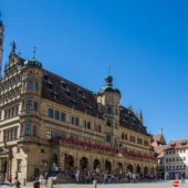 The Old Town and Rathaus (Town Hall), Rothenburg ob der Tauber, Germany