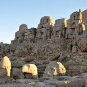 The Eastern Terrace with thrones and heads, Nemrut Dagi, Best places to visit in Turkey