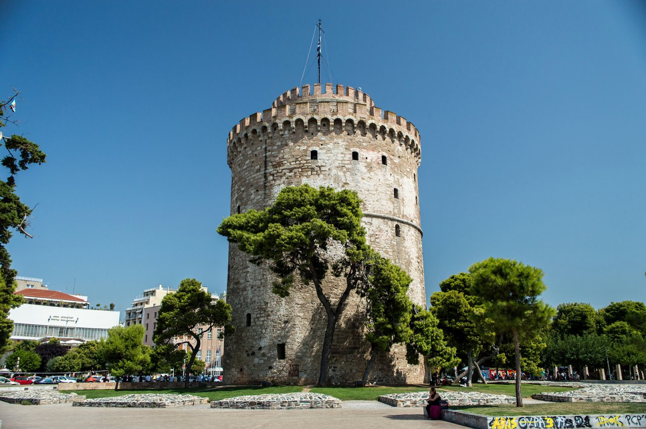 White Tower of Thessaloniki, Greece Travel