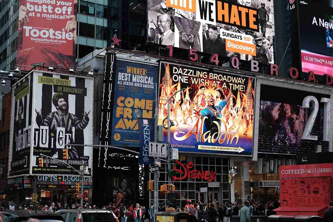 Broadway, Top tourist attractions in New York City