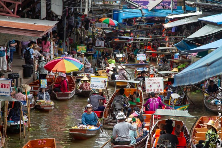 Damnoen Saduak Floating Market, Things to do in Bangkok - Tourist Attractions, Thailand
