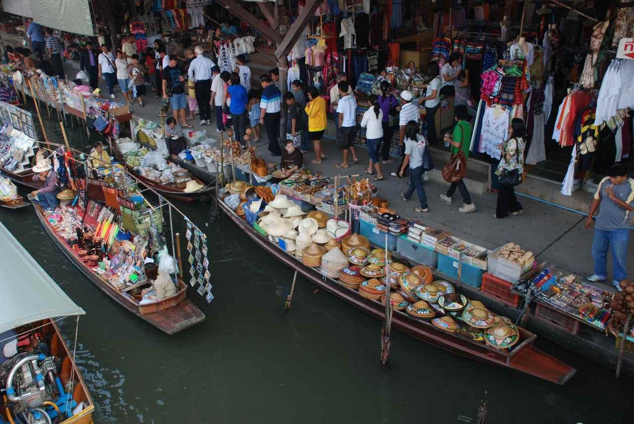 Floating Market Damnoen Saduak, Top tourist attractions in Bangkok