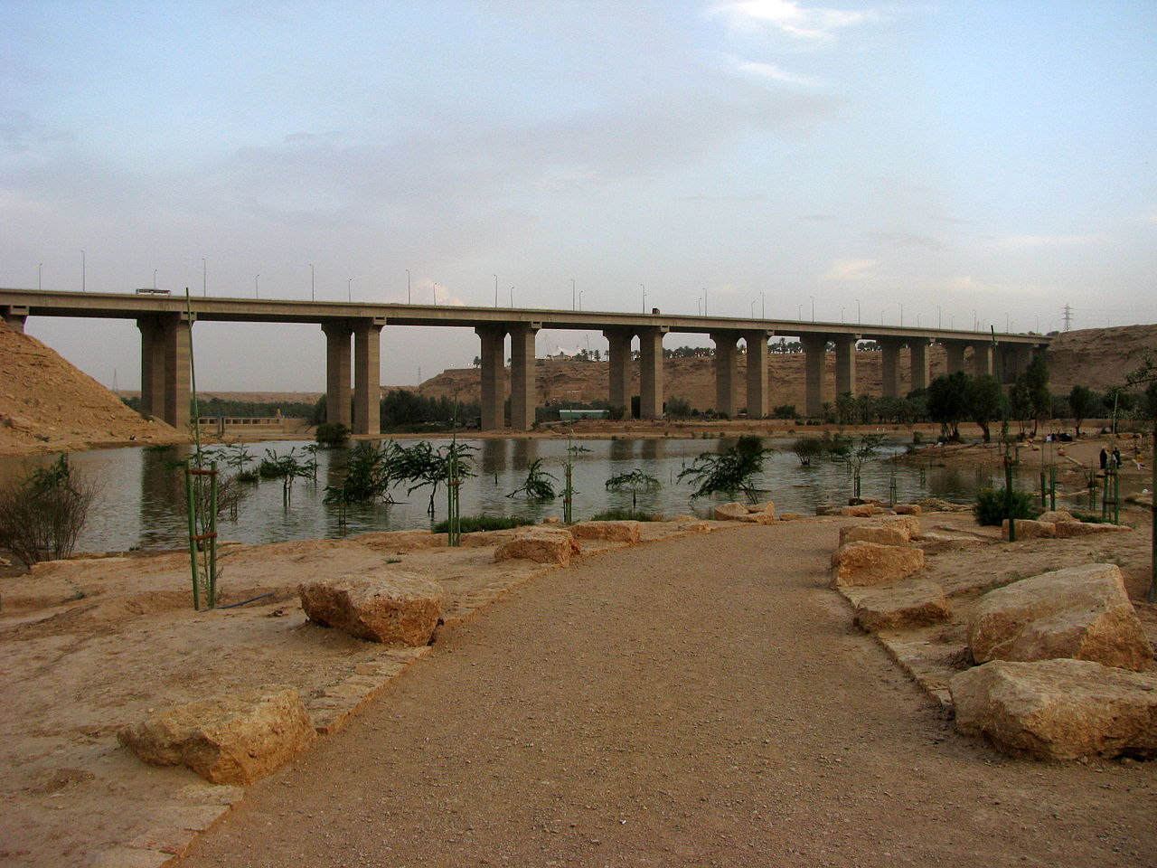 Lake at Wadi Hanifah