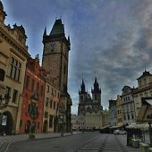 Old Town Square and Orloj (Old Astronomical clock), Prague, Czech Republic