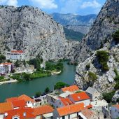 Omis, the Cetina River flows into the Adriatic Sea, Best Places to Visit in Croatia