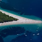 Zlatni rat, Famous beach on Brac island, near the town of Bol, Best places to visit in Croatia