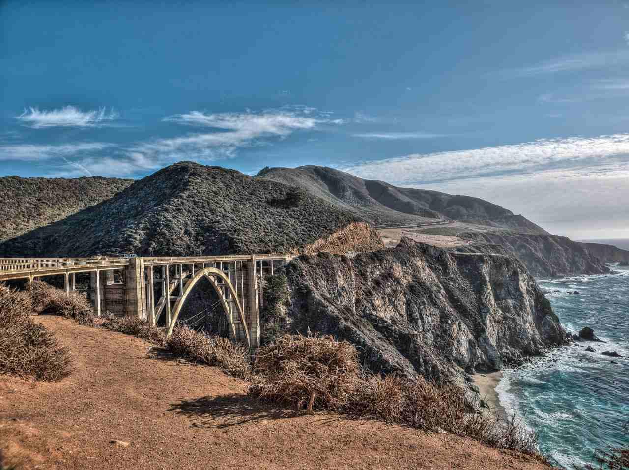 Bixby Bridge, Big Sur, California, Visit in USA