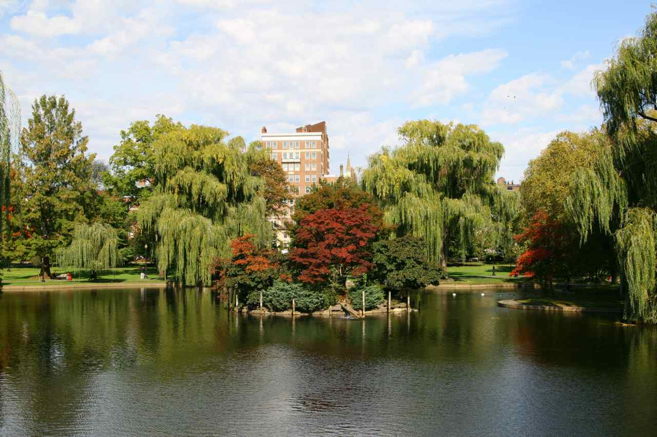 Boston Common central public park, Boston, Massachusetts, Visit in USA