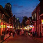 Bourbon Street, New Orleans, Louisiana, Visit in USA