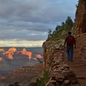 Bright Angel Hiking Trail, Grand Canyon National Park, Arizona, Visit in USA