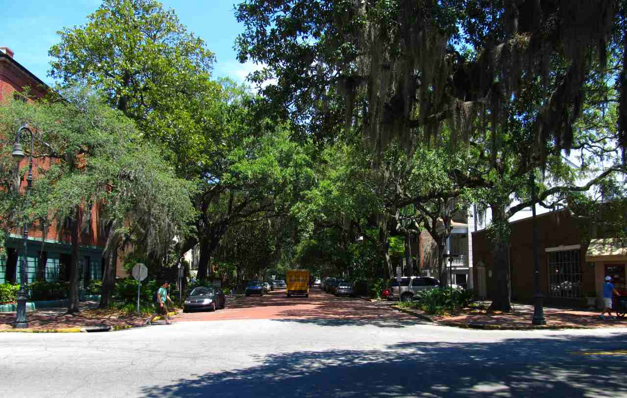 Bull Street, Savannah, Georgia, Visit in USA