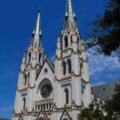 Cathedral of St John the Baptist, Savannah, Georgia, Visit in USA
