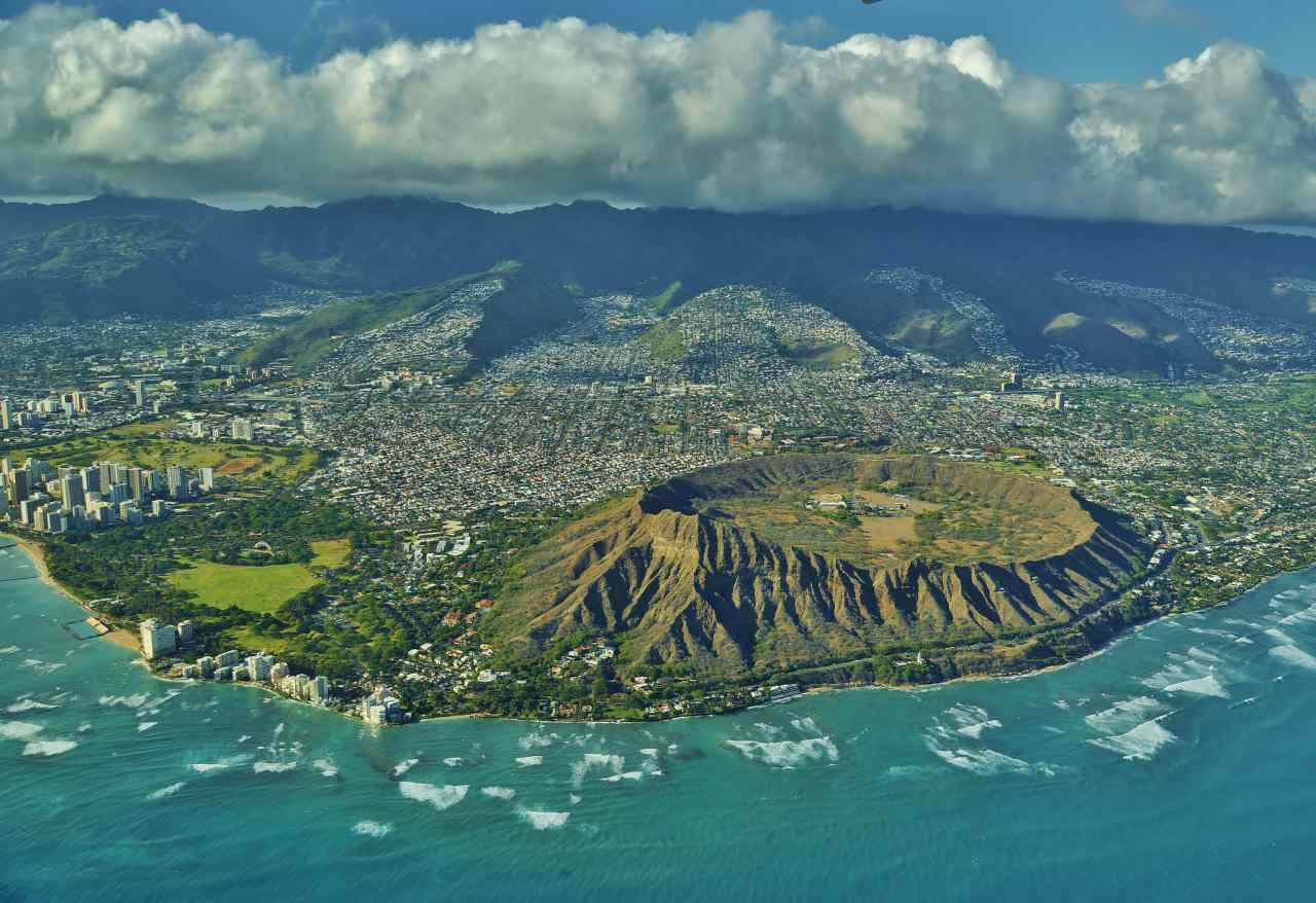 Diamond Head State Monument, Honolulu-Oahu, Hawaii, Visit in USA